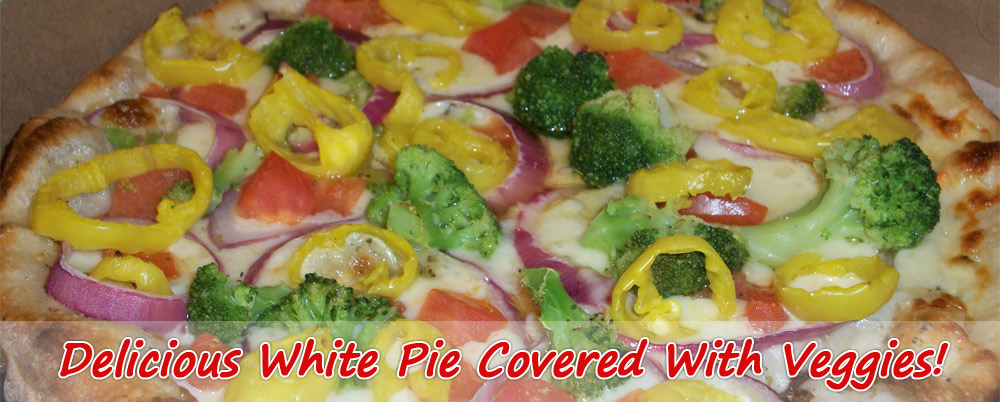 white veggie pizza
